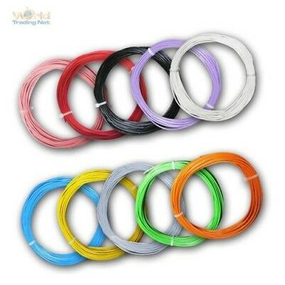 (0,56€/m) 10m flexible stranded Wire 0,50mm² Cable, Copper braid Control LiYv