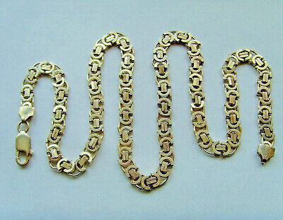 925 Sterling Silver Byzantine Chain Nice Heavy Weight 20.25 Inch or 51cm Length