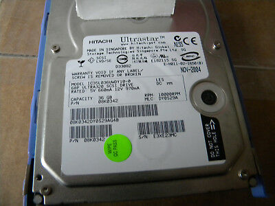 Hitachi IC35L036UWDY10-0 36GB Ultra 320 SCSI drive 68 Pin 10K 08K0342 Lot of 3