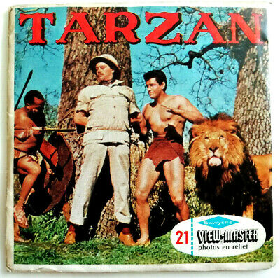 """3x VIEW MASTER 3D REEL """" TARZAN """" 