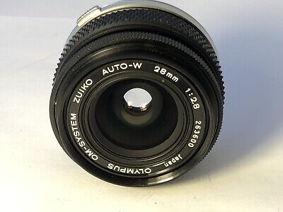Olympus OM Zuiko 28mm F2.8 Wide Angle Lens - Crystal Clear Glass