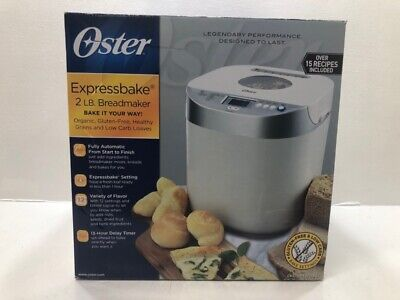 NEW Oster CKSTBRTW20-GF 2LB Electric 650W EXPRESSBAKE Bread Maker Machine White