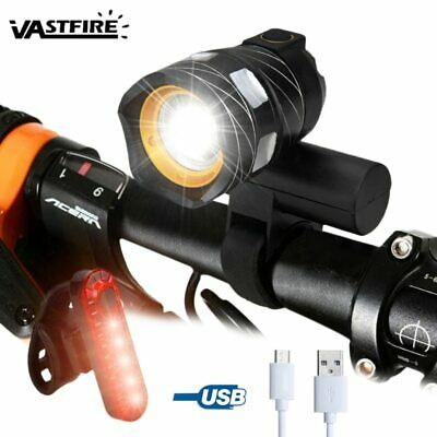 15000LM T6 LED USB Line Rear Light Adjustable Bicycle Light 3000mAh Rechargeable