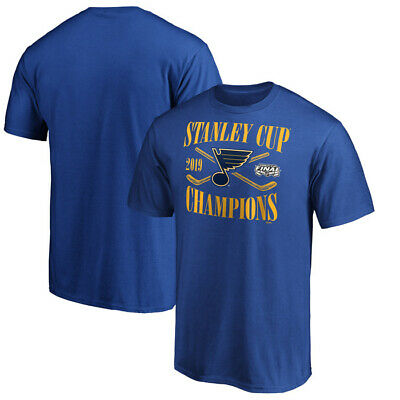 St. Louis Blues 2019 Stanley Cup Champions Hand Pass T-Shirt Royal