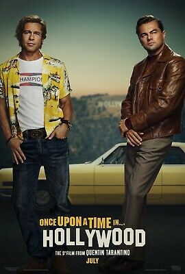 "Once Upon a Time in Hollywood ""A"" 11.5x17 Promo Movie POSTER Quentin Tarantino"