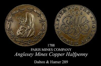 1788 Anglesey Mines Conder Halfpenny D&H 289, nice!