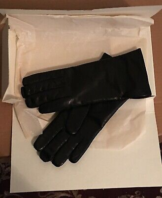 $98 COACH Women's Cashmere Lined Leather Basic 6.5 black winter gloves 83875 nwt Women's Gloves & Mittens Women's Accessories