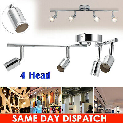 4Head Vintage Industrial Ceiling Lamp Chandelier Hange Track Light Pendant Shade