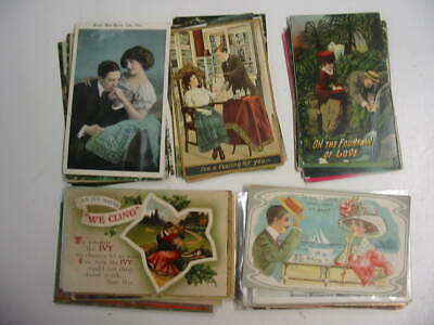 25 Older Romance Postcard Lot