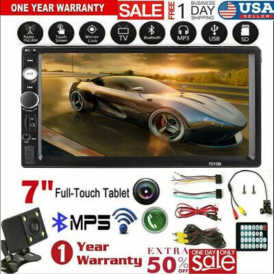 "7"" 2 Din Touch Screen 1080P Stereo Car FM Radio MP5 Player AUX FM Rear Camera"