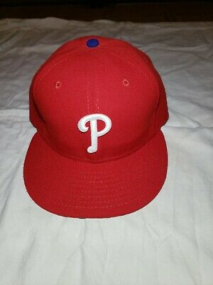 newest 2e394 6e510 New Era Philadelphia Phillies GAME 59Fifty Fitted Hat (Red) MLB Cap