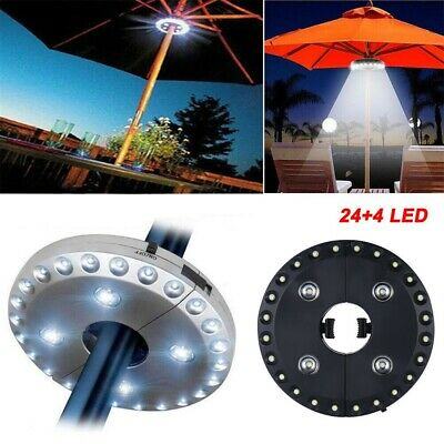 28 LED Parasol Patio Umbrella Light NEW Garden Patio Grass Veranda Terrace Party