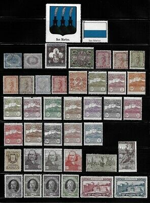 Strong Collection of Old Stamps - SAN MARINO . . . . . . . . . (8 pages)