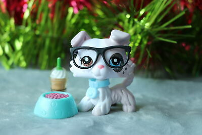 Littlest Pet Shop LPS Ice Cream Collie Dog With LPS Accessories Glasses Collar