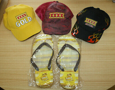 XXXX Beer Hats x3 + Thongs (Large Size)