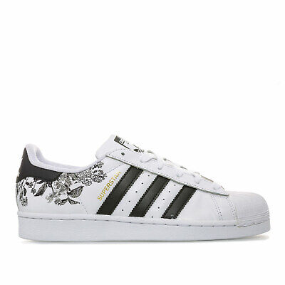 la moitié 2cf09 8b703 ADIDAS ORIGINALS BASKETS Superstar Blanc Noir Femme