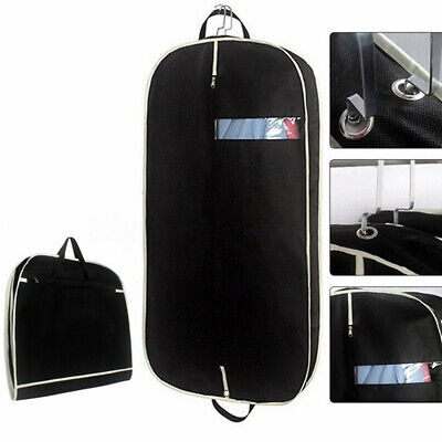 Suit Travel Bag Garment Long Dress Black Hanging Clothes Cover Protector Carrier
