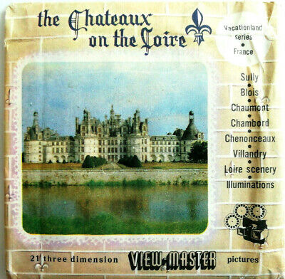 """3x VIEW MASTER 3D REEL """"The CHATEAUX on the LOIRE"""" 