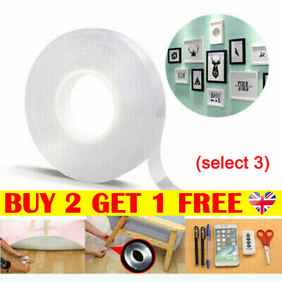Multifunctional Nano-Tech Adhesive Tape Double-sided Traceless Gel Grip Sticke L