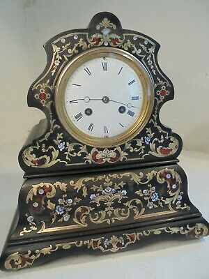 Antique French Boulle Striking Mantel  Clock