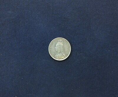 UK, Queen Victoria, Jubilee Head Silver Threepence Coin, 1889.