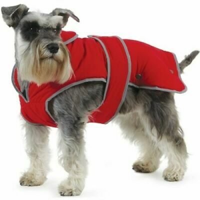 Ancol Muddy Paws Stormguard Poppy Red Waterproof Fleece Lined Dog Coat  MEDIUM