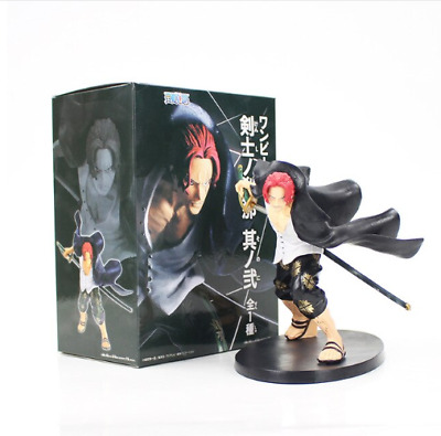 Figura One Piece Shanks Red Hair Pirates Luffy Anime Figure In Box
