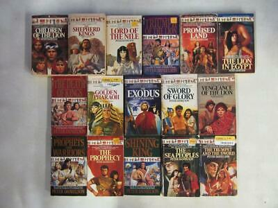 BIG Lot (16) PETER DANIELSON Vintage Historical Book CHILDREN OF THE LION SERIES