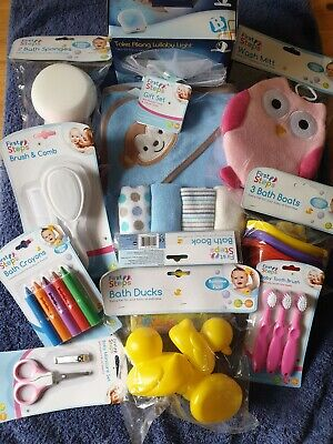 Bumper Baby Bathing Gift Pack including lullaby lights night light & baby towels