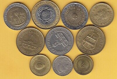 Argentina  small lot of 8 coins ...............................8
