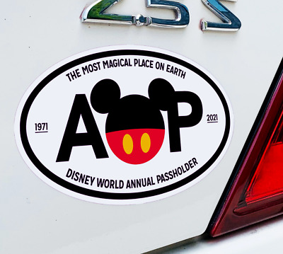 """Disney World Mickey Mouse Ears """"Magical Place"""" Annual Passholder AP Car Magnet"""