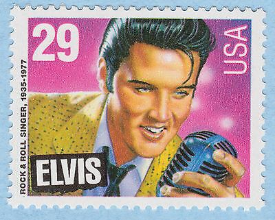 ELVIS PRESLEY Postage STAMP Legend ROCK & ROLL Rhythm/Blue SINGER USPS Unused