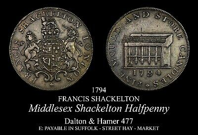 Middlesex Shackelton Conder Halfpenny D&H 477