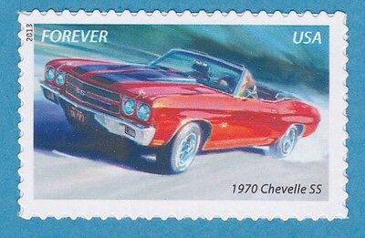 1970 CHEVELLE SS CHEVY MUSCLE CAR Forever Stamp UNUSED AMERICA ON THE MOVE MNH