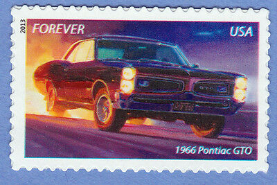 """1966 PONTIAC GTO MUSCLE CAR Forever Stamp UNUSED New Postage 2013 """"The Goat"""" MNH"""