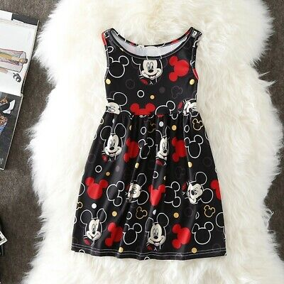 Abito Bambina Minnie mouse Disney 2anni-10 anni estate cotone dress Kids baby