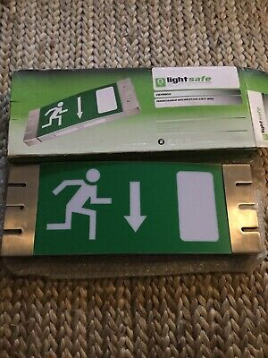 Lightsafe Emergency Exit Arrow Down Sign Maintained decorative Exit Sign
