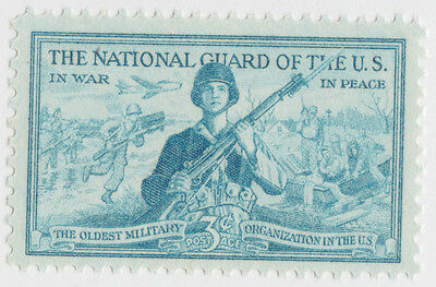 THE NATIONAL GUARD OF THE US STAMP USPS 1017 Unused 1953 POSTAGE US MILITARY MNH