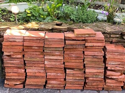 "Reclaimed Antique (Min Victorian) Floor/Path tiles 9""x 9"" 4.1Kg/9lb Weight Each."