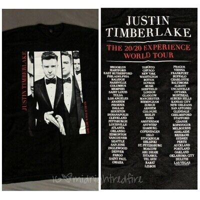 Justin Timberlake JT Concert TEE 2015 The 20/20 Experience World Tour T Shirt XL