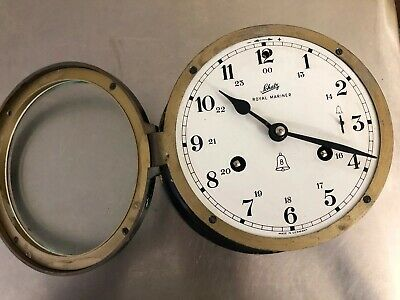 Schatz Royal Mariner Vintage German 8 Day Marine Ships Bell Clock