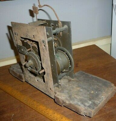Antique W.Nicholas Longcase Clock movement with Wilson engraved to dial mount