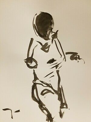 JOSE TRUJILLO - ABSTRACT EXPRESSIONISM INK WASH MINIMALISM Sport Fencing Stand