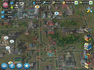 SimCity BuildIt Modded Account Level 70+