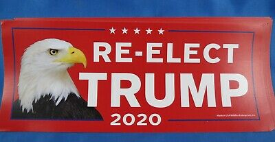 WHOLESALE LOT OF 20 RE-ELECT TRUMP PRESIDENT 2020 Campaign STICKER Eagle RED GOP