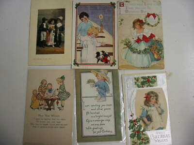 25 Older Children Postcard Lot