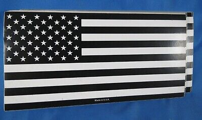 Wholesale Lot Of 10 Black And White Usa America Flag Made In Us Stickers 5X3