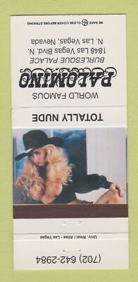 Matchbook Cover - Palomino Burlesque Strip Club girlie Las Vegas NV 30 Strike