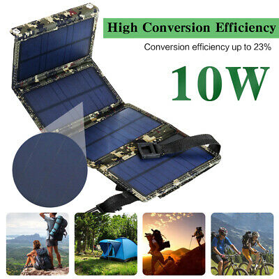 10W USB Solar Panel Portable External Battery Charger Power Bank for Cell Phone