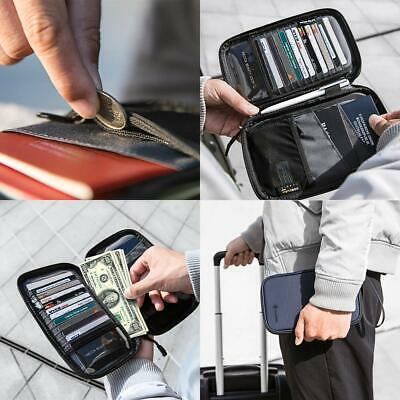 Passport Holder RFID Blocking & Waterproof Travel Wallet Ticket Organizer Family
